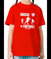 Детская футболка  Russia football team