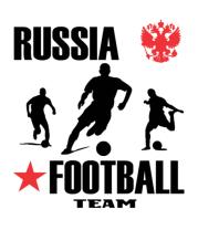 Мужская футболка с длинным рукавом Russia football team