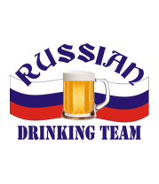 Футболка поло мужская Russian Drinkig Team