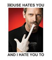 Женская футболка  House Hates You