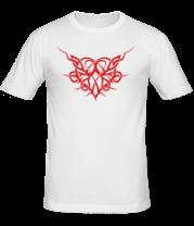 Мужская футболка  Трайбл Сердце