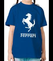 Детская футболка  Ferrari (феррари)