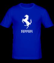 Мужская футболка  Ferrari (феррари)