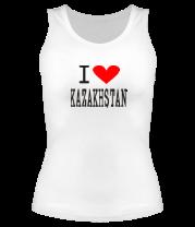 Женская майка борцовка I love Kazakhstan