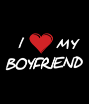 Толстовка без капюшона I love my boyfriend