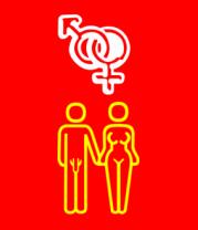 Женская футболка  Мужчина и женщина