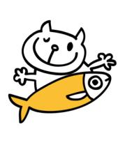 Мужская майка Кот и большая рыба