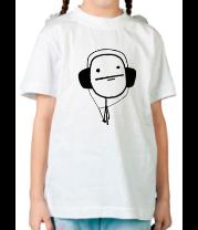 Детская футболка  Poker Face в наушниках