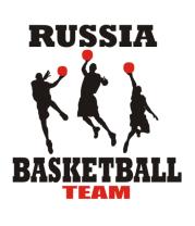 Футболка поло мужская Русский баскетбол