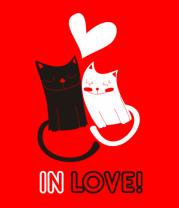 Мужская футболка с длинным рукавом In love