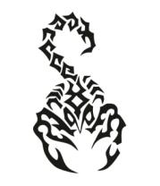 Футболка для беременных Скорпион черный