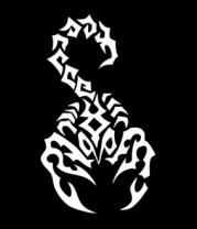 Женская футболка с длинным рукавом Скорпион черный