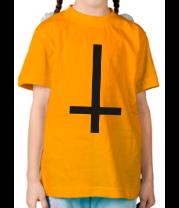 Детская футболка  Перевёрнутый крест