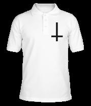 Футболка поло мужская Перевёрнутый крест