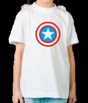 Детская футболка  Щит Капитана Америка