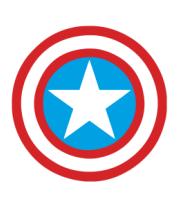 Мужская футболка  Щит Капитана Америка