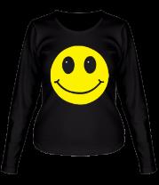 Женская футболка с длинным рукавом Смайл - улыбка