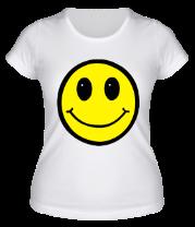 Женская футболка  Смайл - улыбка