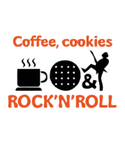 Толстовка без капюшона Coffee, cookies, ROCK'N'ROLL