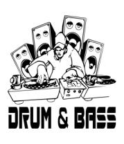 Мужская майка Drum & Bass