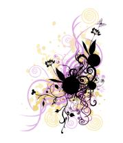 Мужская футболка  2 rabbit in flowers