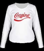 Женская футболка с длинным рукавом Cocaine