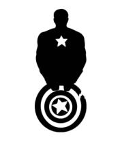 Женская майка борцовка Captain America