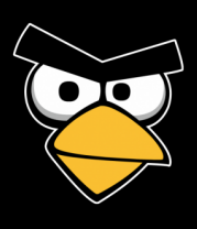Женская футболка  Angry Birds Red Face
