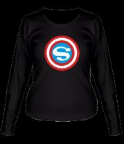 Женская футболка с длинным рукавом Captain Superman