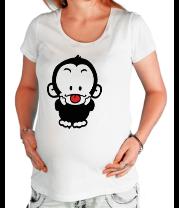 Футболка для беременных Веселая обезьянка