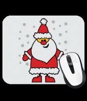 Коврик для мыши Веселый Дед Мороз