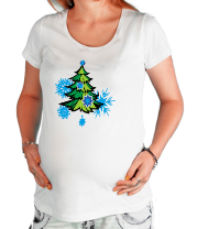 Футболка для беременных Новгодняя ёлка