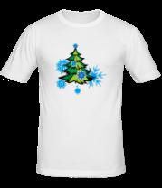 Мужская футболка  Новгодняя ёлка