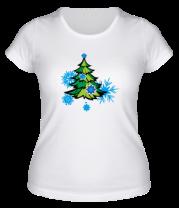 Женская футболка  Новгодняя ёлка
