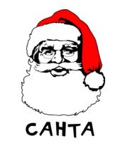 Мужская футболка с длинным рукавом Санта Клаус