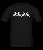 Мужская футболка  Олени