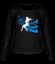 Женская футболка с длинным рукавом Sky princess