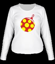 Женская футболка с длинным рукавом Новогодняя игрушка