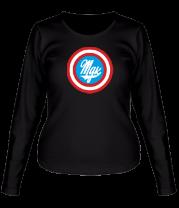 Женская футболка с длинным рукавом Капитан MDK