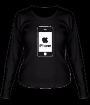 Женская футболка с длинным рукавом Apple iPhone