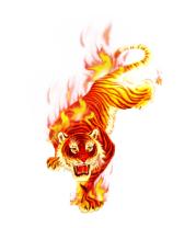 Женская майка борцовка Тигр в огне
