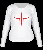 Женская футболка с длинным рукавом Quake III