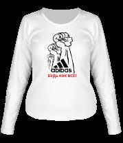 Женская футболка с длинным рукавом Будь как все