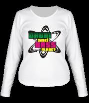 Женская футболка с длинным рукавом Dnb planet