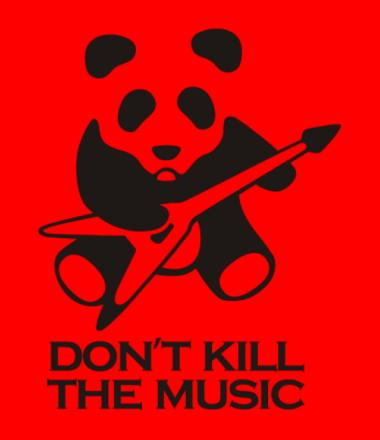 Мужская футболка  Don't Kill The Music