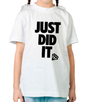 Детская футболка  Just Did It