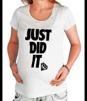 Футболка для беременных Just Did It