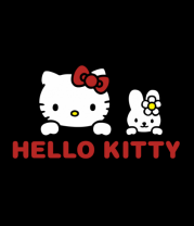 Женская майка борцовка Hello kitty