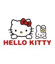Женская футболка с длинным рукавом Hello kitty