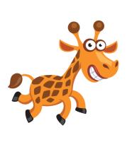Футболка поло мужская Жираф smile